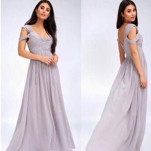Lulus Make Me Move Grey Maxi Dress